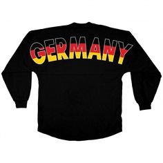 Germany Flags of the World  Classic Crew Neck Spirit Jersey® Black-SML-front-print-None--