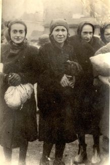 Warsaw, Poland, Jewish women, apparently in the ghetto. They all perished