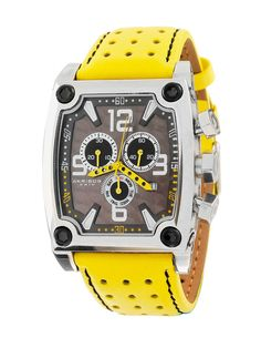 Akribos XXIV Men's Square Yellow Watch