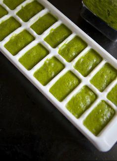 Handig: spinazie invriezen voor het maken van smoothies -
