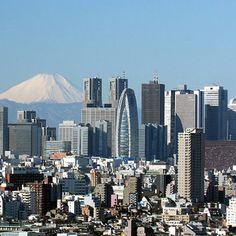 View of Shinjuku skyscrapers and Mount Fuji as seen from the Bunkyo Civic Center in Tokyo, Japan Cheap Things To Do, Free Things To Do, Izu, Nikko, Fukuoka, Economy Of Japan, Monte Fuji Japon, Kyoto, Japan Travel