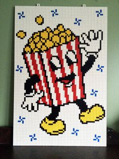 Hey, I found this really awesome Etsy listing at https://www.etsy.com/listing/227775375/popcorn-lego-mosaic