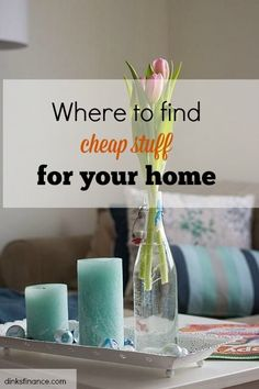 3 Places where you can buy affordable decorations or things for your home!