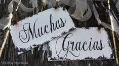 Muchas Gracias Signs. Wedding Thank You. Wedding Sign. Wedding Decor. Rustic Wedding. Wedding Reception. Wedding Ceremony. Photo Props.