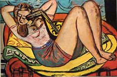 Max Beckmann (1884-1950): Woman w/ Mandolin in Yellow & Red, 1905 http://iffranco.tumblr.com/page/35