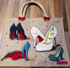 By Emily-em Original Bag Designs. The way to a Woman's heart is through her sole!