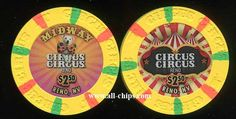 #LasVegasCasinoChip of the day comes from Reno  Circus Circus has a new rack.  Here is the $2.50 you can get here http://www.all-chips.com/ChipDetail.php?ChipID=18099 I have the rest of the rack in the same section $1-$5 #CasinoChip #LasVegas #Reno
