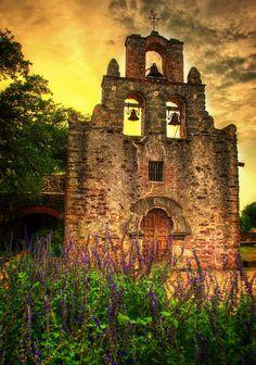 """Sunset at the Mission"" - San Antonio, TX San Antonio's four other Spanish colonial missions San José, Concepción, San Juan and Espada."