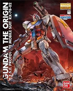 Bandai MG RX-78-02 GUNDAM (THE ORIGIN) 1/100 Plastic model kit | Japan Toys Australia