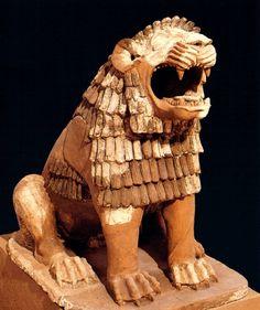 Leão guardião, II milênio a.C., Museu do Iraque, Bagdá.