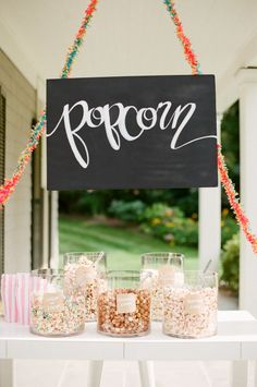 Popcorn bar: http://www.stylemepretty.com/living/2015/04/30/20-ideas-for-the-ultimate-mothers-day-brunch/