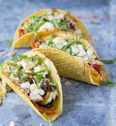 Sauteed Vegetarian Tacos with Spicy Crema  plus 8 Other Vegetarian Taco Recipes