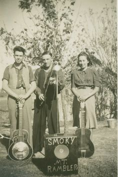 My great-grandparents, Robert and Ramona Gridley, and my great-great uncle, Raymond McCreary, pictured with their instruments (pre-WWII). Prior to the war, they played Bluegrass music, and actually made a few recordings of their music. Unfortunately, Raymond was lost in France during the war; he was never recovered and is still listed as 'MIA.' #countrymusic #bluegrassmusic  Source: Amanda Spradlin @CMT
