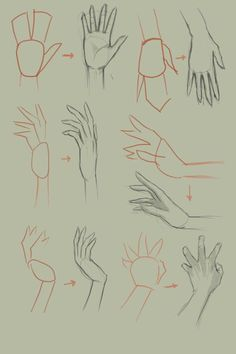 How to draw hand, basic drawing tutorial. Hand Drawing Reference, Basic Drawing, Art Reference Poses, Drawing Tips, Painting & Drawing, Drawing Hands, Drawing Ideas, Anime Drawing Tutorials, Design Reference