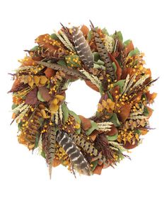 This 18'' Great Outdoors Wreath is perfect! #zulilyfinds