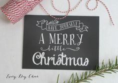 FREE Chalkboard Print for Christmas