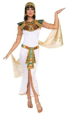 Shop women's Cleopatra fancy dress costume online today at Heaven Costumes. Fabulous Egyptian Queen costume by Forum Novelties. Dress up in this Cleopatra costume for your next International costume party. Cleopatra costumes are in stock now! Egyptian Queen Costume, Pharaoh Costume, Cleopatra Dress, Egyptian Fancy Dress, Cleopatra Halloween, Halloween Kostüm, Halloween Costumes, Outdoor Halloween, Trendy Outfits