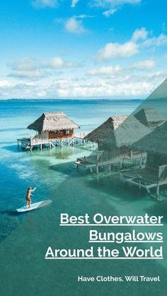 Travel experts weigh in what the best overwater bungalows are all over the world in this post. From the Caribbean to Southeast Asia and even the Nordic Region! From luxury all-inclusive resorts to budget-friendly bungalows for as little as $8 a night.  | overwater bungalow all-inclusive | overwater bungalow caribbean | overwater bungalow cheap | overwater bungalow maldives #overwaterbungalow #bucketlist