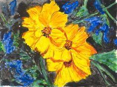 COSMOS - Watercolor by Judy Underwood