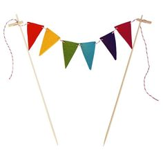 Rainbow Bunting Cake Flags