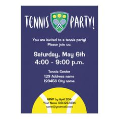 Tennis party invitations sports themed by ledinghamshop on etsy tennis party invitations sports themed by ledinghamshop on etsy events pinterest tennis party invitations and roland garros filmwisefo
