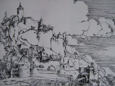 """A particular from the painting """"Das Meerwunder"""" by Albrecht Durer. I made it for a school project."""