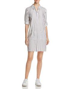 bf33312047b0 T Tahari Sabina Metallic Stripe Tunic Top Stripe Dress