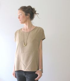 shirt geometric sand by StAnderswo on Etsy, €59.00