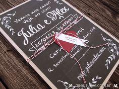 Convite de Casamento estilo Lousa - AboutLove
