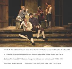 """PR photo of NYC production of my Elizabethan drama, """"Marlowe,"""" about Shakespeare's contemporary, Christopher Marlowe."""