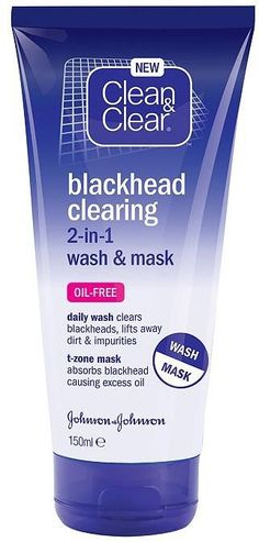 Pin for Later: Say Bye-Bye to Blackheads Without Squeezing a Single Spot Clean & Clear Blackhead Clearing 2-in-1 Wash & Mask Clean & Clear Blackhead Clearing 2-in-1 Wash & Mask (£4)