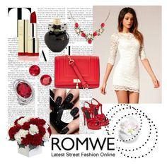 """""""Romwe 9."""" by enes-hasic5 ❤ liked on Polyvore featuring Yves Saint Laurent, Aéropostale, Anne Klein, Nearly Natural and romwe"""