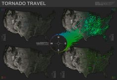 Tornado Travel Map by IDVsolutions, via Flickr