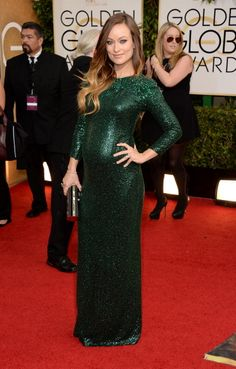 Olivia Wilde in Gucci at this year's Golden Globes
