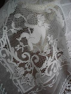 An All Cotton Cherub Lace Tablecloth/White or Cream Panel Curtains, Valance, 1500s Fashion, Romantic Shabby Chic, Canada Post, Lace Heart, Wedding Function, Cherubs, Pure White