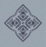 Blackwork Needle Case #3 ------------------------------------------------ Stitch Count = 82 x 36 Grade = Easy