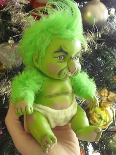 Lil Baby Grinch made to order by LittlePsychoLilith on Etsy