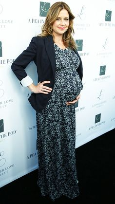 Chic Celebrity Maternity Style - Jenna Fischer, April 2014 from #InStyle