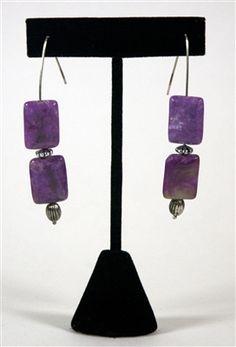 Retangular Purple Stone--hand made in the USA @www.voovoodress.com $30.00