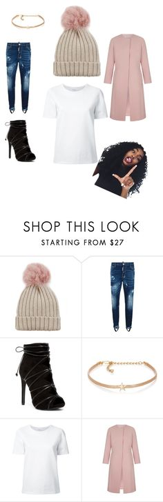 """""""Beanie Cute"""" by aharvey3-1 ❤ liked on Polyvore featuring Jocelyn, Dsquared2, Kenneth Jay Lane and Lemaire"""