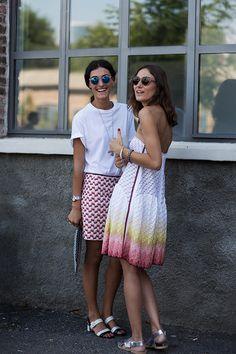 Giulia and Giorgia Tordini at Missoni show in Milan, June 2013. Pic by The Sartorialist.