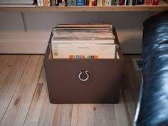 DIY Record crates.  For those of you who like listening to records as much as I do!