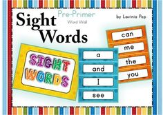 Sight Words - Word Wall (Pre-Primer Words)