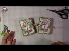 Tutorial: Flamingoverpackung im Bücherstyle mit Produkten von Stampin' Up! - YouTube