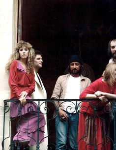 "Fleetwood Mac at the Château d'Hérouville in France recording the ""Mirage"" album in 1981."