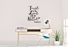 Trust In the Lord by AnnieMadeVinyl on Etsy