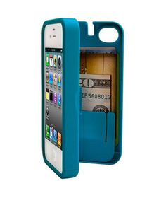 Eyn for iPhone: Thanks to a hinged back, this handy case protects your iPhone while also concealing cash and bank cards in one safe place.