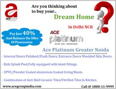 #ACEPlatinum Greater Noida gives a comfortable #life to you. #Residents will enjoy the benefits of convenient #lifestyles as it is near to shopping #complexes, expressway, #metrostations, hospitals, #educational hub etc. See more @ http://acegroupindia.com/ace-platinum.html  #Apartments #Flats #RealEstate #Home #NCRProperty