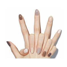 For spring 2019 the more nail polish colors you wear the better. Here's how to wear different color nails gradient nails multicolored nails and mismatched nails for spring Neutral Nail Color, Fall Nail Colors, Nail Polish Colors, Manicure Colors, Neutral Tones, Gel Manicure, Neutral Nail Polish, Manicure Ideas, Nail Ideas