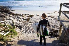 Surfer at Long Beach, Kommetjie, Cape Town. I Site, Long Beach, Cape Town